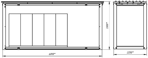 Блочно-модульное здание ОПУ - центральный блок